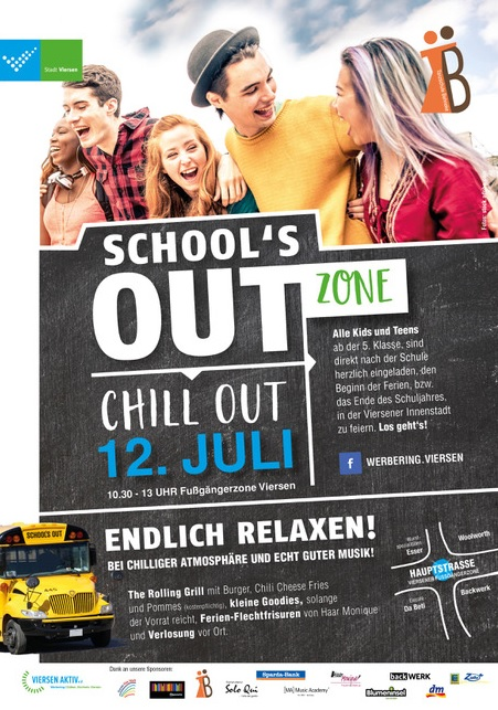 Plakat für das Event School's Out