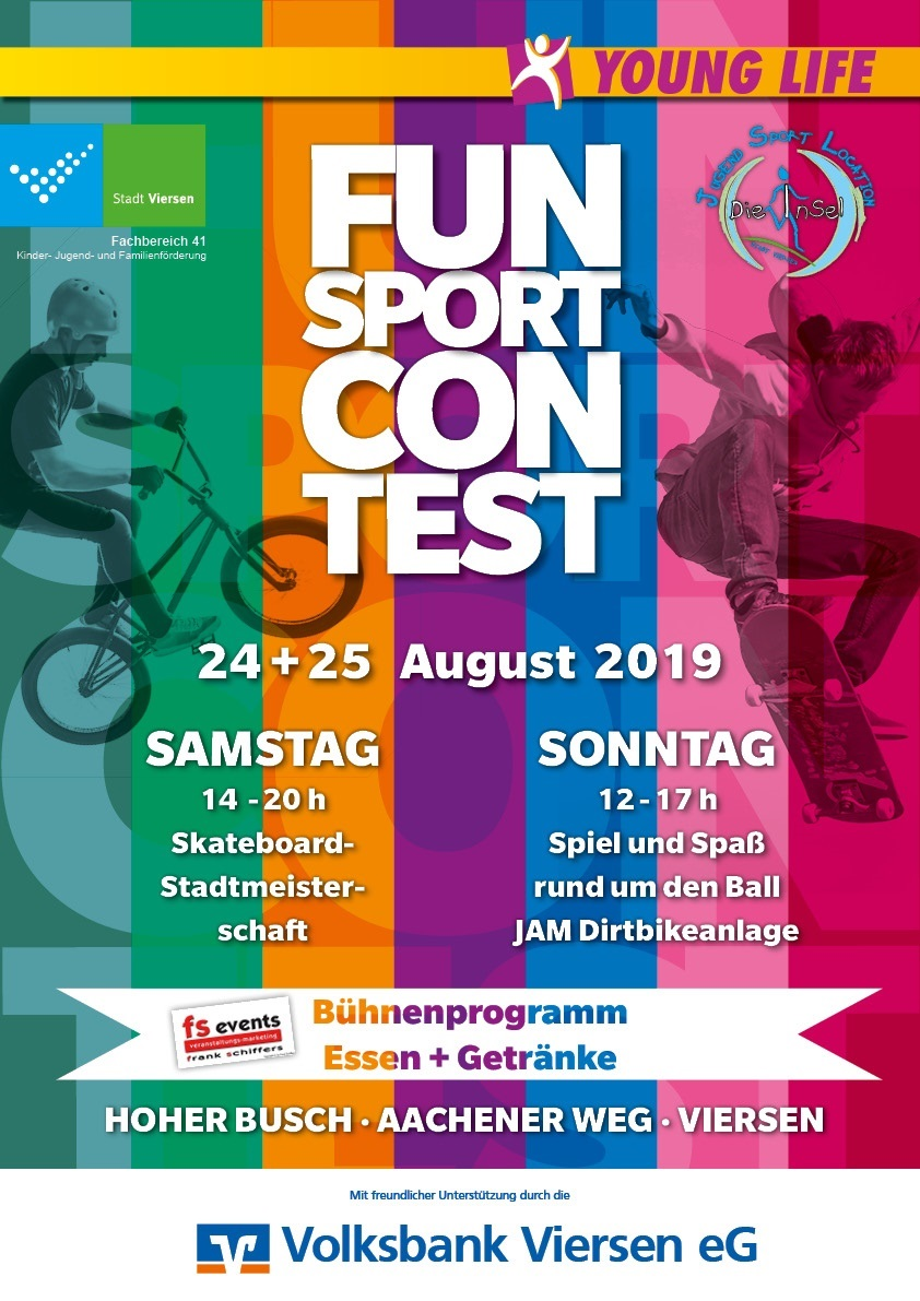 Plakat zum Funsport-Event